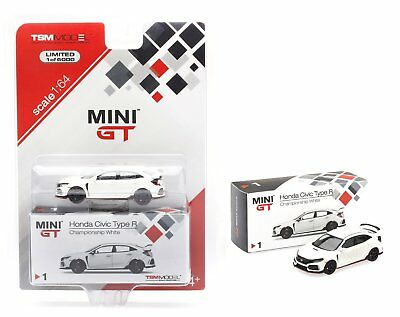 Mini GT 1:64 2018 Honda Civic Type R (FK8) TSM Model Diecast Car White