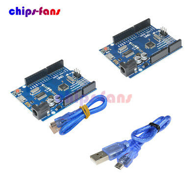 Latest Version UNO R3 ATMEGA328P-16AU CH340G Micro USB Cable Kit For Arduino DIY