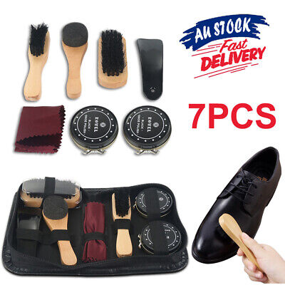 8pcs Polish Brush Set Shoe Shine Care Kit Boots Shoes Sneakers Leather Bag