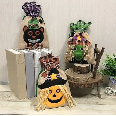 Pumpkin/Witch/Black Cat Halloween Adornment Creative Tote Bag Party Gift Bag