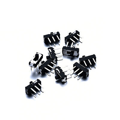 10pcs DC 50V On/Off/On DPDT 6 Pin Toggle Vertical Mini Slide Type DIP Switch