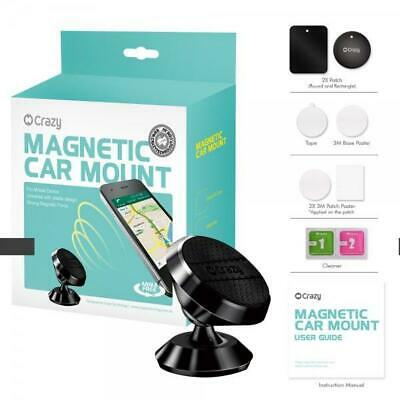 2x Universal 360 Ball Magnetic Car Mount Cradle For iPhone/Galaxy/GPS