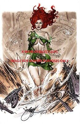 Ebas X-Men Jean Grey Phoenix Shredded Costume Art Print - Signed  11X17
