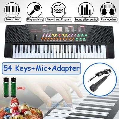 54 Key Electronic Keyboard Electric Music Digital Piano Organ with Mic & Stand