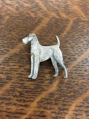 Vintage Kenart Made In England 🏴 Airedale Terrier Dog Pin