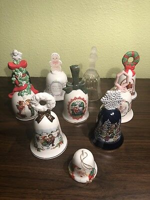 Collectible Christmas Bells Lot of 10 Avon Precious Moments 1986-1995 Make Offer