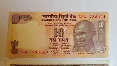 India 10 Rupees 786 lucky Serial number UNC!!!!!!!