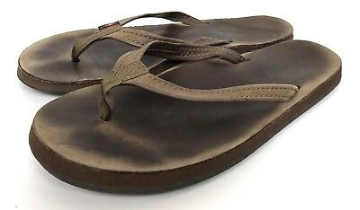 f2fdf81ea Rainbow Sandals Leather Footbed Brown Thong Flip Flop Women s Shoe Size 7