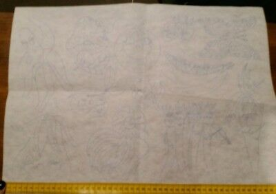Unworked Embroidered pre outlined designs Vegetables etc 50 x 38cm