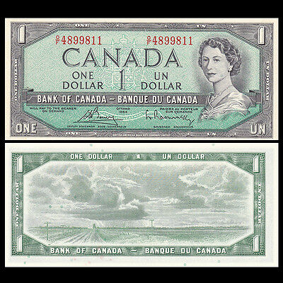 Canada 1 Dollar, 1954(1972-73), P-75c, banknote, combined shipping, UNC