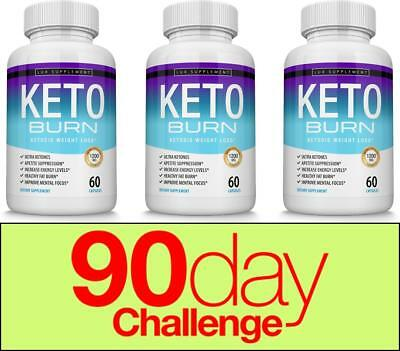 ☀Keto Burn Diet Pills -1200 MG Ultra Ketosis Weight Loss Supplement 3 Months