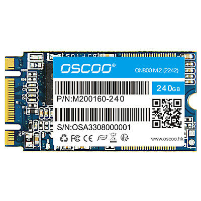 OSCOO MLC 2242 SSD Flash 240GB 120GB 60GB NGFF M.2 Solid State Drive For Laptop