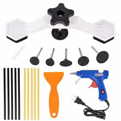 1Set Car Body Dent Repair Kit Dent Puller Tool with Hot Melt Glue Gun Glue Stick