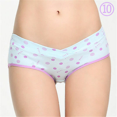 Maternity Pregnant Women Underwear Panties Low-Waist U-shaped Briefs L-XXL