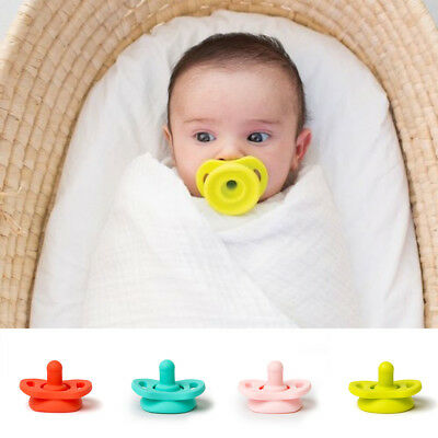 Silicone Nipple Feeder Funny Soother Baby Newborn Infant Flexible Pacifier AU