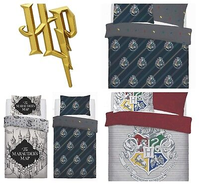 Official Harry Potter Duvet Quilt Cover Bedding Sets - Single OR Double Bed