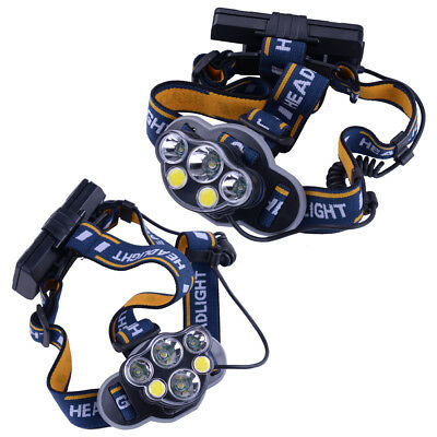 Camping Headlamp Head Flashlight Torch Headlight T6 LED Rechargeable Hands Free