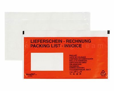 Docufix Delivery Note Pockets Printed Delivery Note / Invoice Din Long 240x110mm