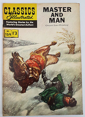 Vintage British Classics Illustrated: MASTER AND MAN/TOLSTOY No. 159 HRN156 1/3