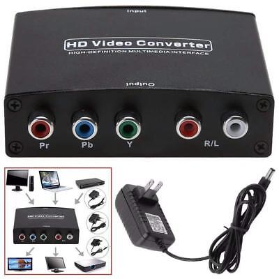 1080P HDMI to RGB Component 5RCA YPbPr + R/L Audio Converter Adapter HD TV