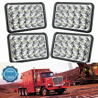 4x LED Headlights Beam For Kenworth T400 T600 T800 W900B W900L Classic 120/132
