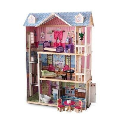 3-Storey 5 Rooms Wooden Doll House
