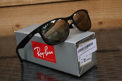 NEW Ray-Ban RB4263 601 5J Chromance Polished Black Silver Polarized  sunglasses fe96a12199f4