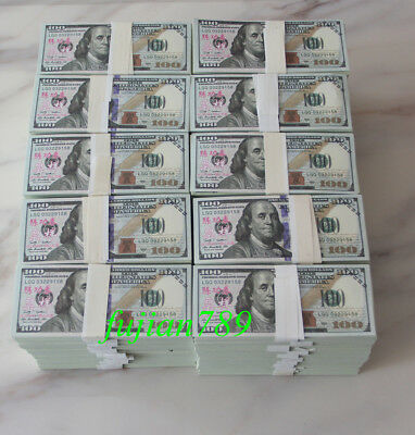 Prop Money $1,000,000 Highly Realistic Filler Prop Stacks Great for Filming