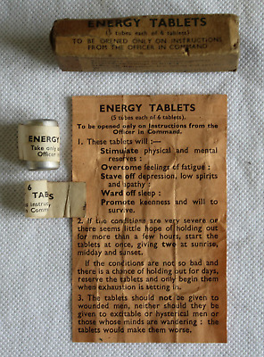 Raf Survival Kit Energy Tablets In Card Box With Leaflet + Part Contents!!