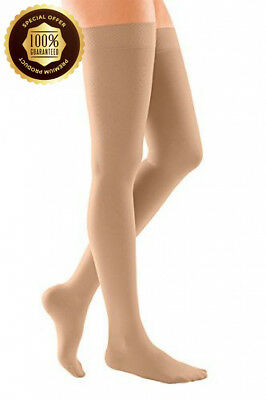 Medi Duomed Soft Class 2 18-24 mmHg Thigh Hold Ups Closed Toe Beige Extra Large