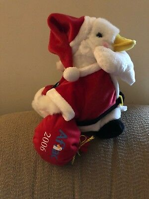 Aflac 2006 Talking Christmas Duck Santa Macys 12 in