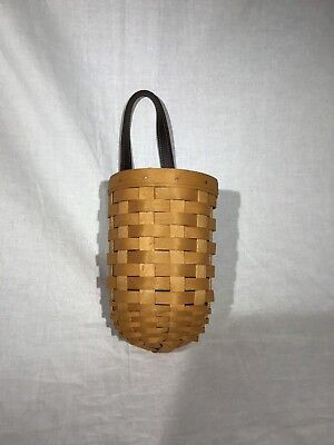 Longaberger Small Gatehouse Basket  with dark, leather handle strap 2002