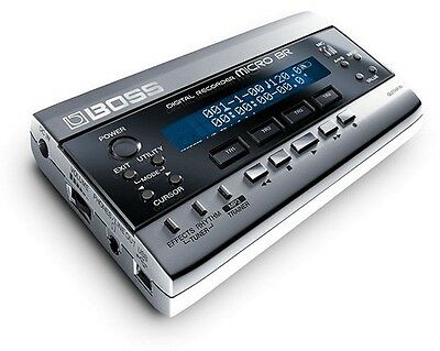 Boss Micro Br Digital Multi 4 Track Recorder & Effects 1Gb + Power Supply Br-80