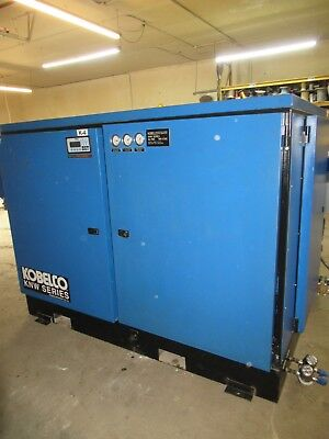 Kobelco 2 Stage 200Hp Knw1-F/H Screw Air Compressor Oil Free 460V 3Phase Rogers