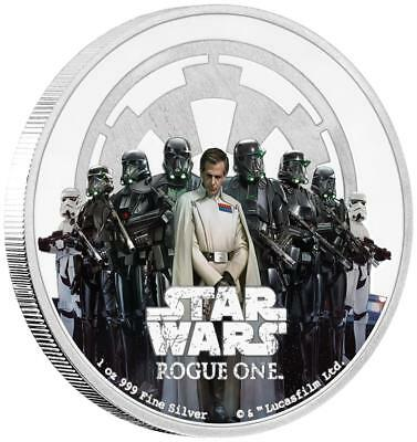 Niue 2 Dollar 2017 - Star Wars™ Das Imperium - Rogue One™ (2.) - 1 Oz Silber PP