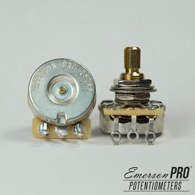 Emerson Pro Cts 250K 8% Tolerance Audio Taper Split Shaft Potentiometer