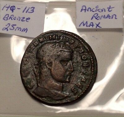 Ancient Roman Maximus Genio 25mm Large Bronze Shows Way Better In Hand Nice Coin