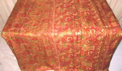 Multi-color Pure Silk 4 yard Vintage Sari Saree SALE DEAL BARGAIN buying #9BR0N