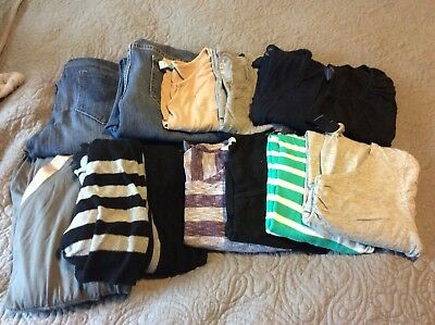 Maternity Size M clothes oh baby old navy a-glow isabel motherhood jeans tops