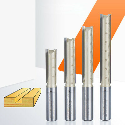 """1/2"""" 1/4"""" Shank Straight Metric Cutter TCT Woodwork Twin Fluted CNC Router Bits"""