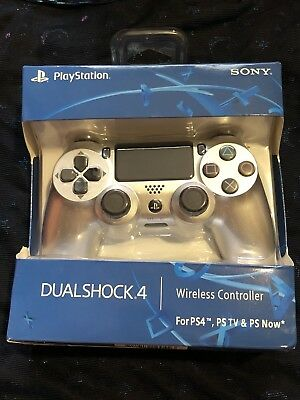 Sony PlayStation Dualshock 4 Wireless Controller PS4 Silver CUH-ZCT2U