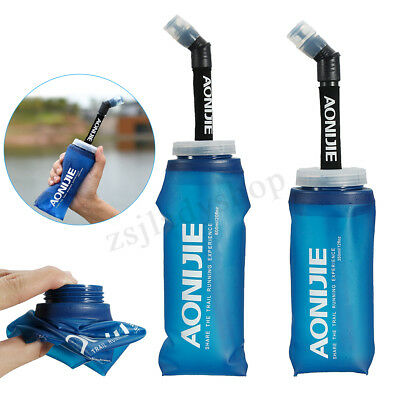AONIJIE 350/600ml Soft Collapsible Foldable Water Bag Bottle Kettle Cup Flask