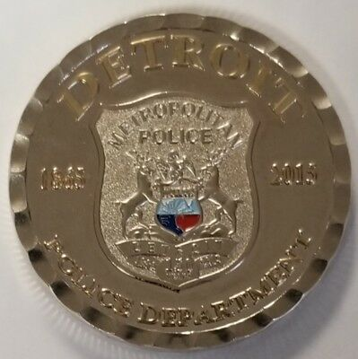 Detroit Police Department Michigan MI 150 Years Ann Metropolitan Police 1.75""