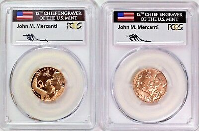 2018 W Breast Cancer Awareness $5 Gold Set PCGS PR70/MS70 FDOI Mercanti Signed