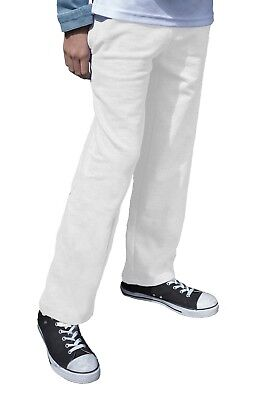 Kids White Jog Pants Boys Girls Plain Jogging Bottoms Sweat Pants Ages 2 - 15