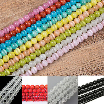 Bulk Natural Gemstone Round Spacer Beads 6mm 8mm10mm DIY Jewelry Finding Making