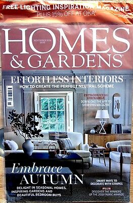 Homes And Gardens Magazine November 2018 With Free Lighting Inspirations Mag