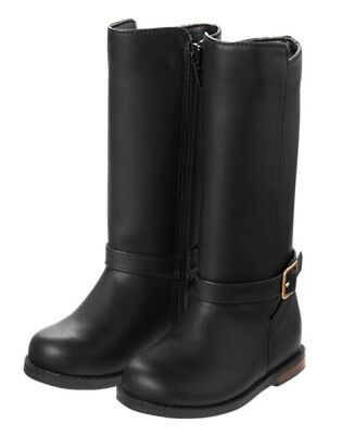 NWT Gymboree Cosmic Club Girls Black Boots Tall Shoes Toddler 4-9, Kid Girl 9-13