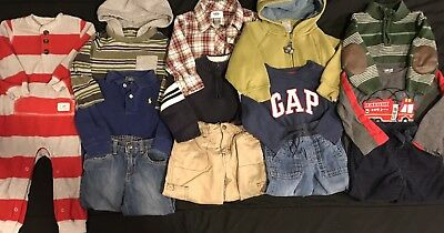 Baby Boy 18 18-24 Months Fall Winter Clothes Lot. Gap Gymboree Polo. Outfits