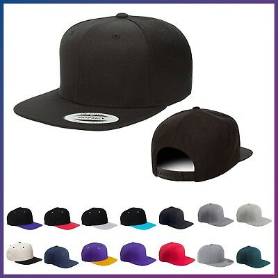 Yupoong Classic Snapback Adjustable Hat Blank Structured Flat Visor Snap Back